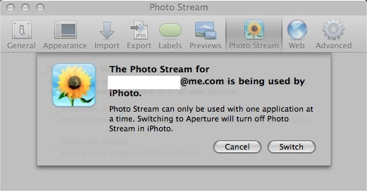 Error Message in Aperture
