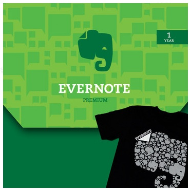 Evernote Premum and tshirt