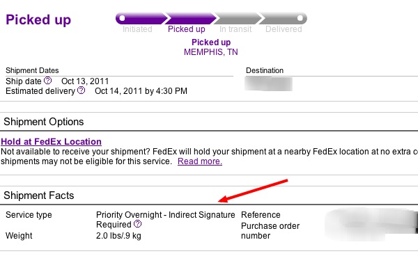 Fedex Signature Release iPhone 4S Verizon
