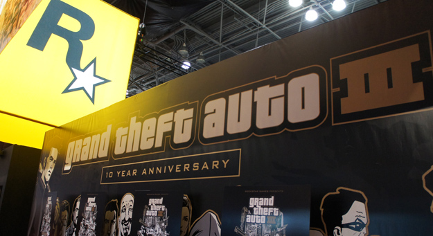 Grand Theft Auto III at Rockstar booth NY Comic Con