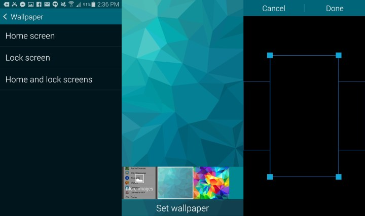 Here's how to change the Galaxy S5 wallpaper to black.