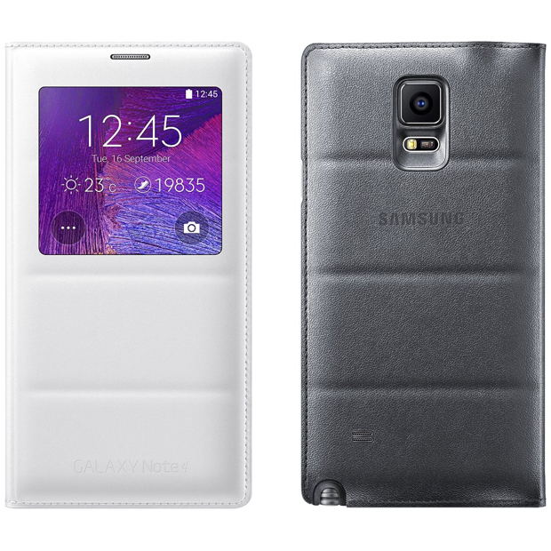 Samsung Galaxy Note 4 S View Flip Cover & Wireless
