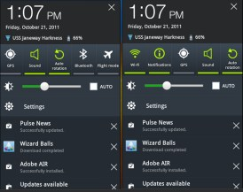 Samsung Galaxy Tab 8.9 TouchWiz - Notifications
