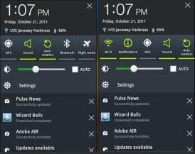 Samsung Galaxy Tab 8.9 TouchWiz - Notifications