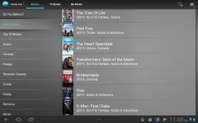 Samsung Galaxy Tab 8.9 Media Hub Selection