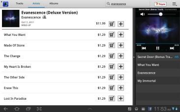 Samsung Galaxy Tab 8.9 - Music Hub