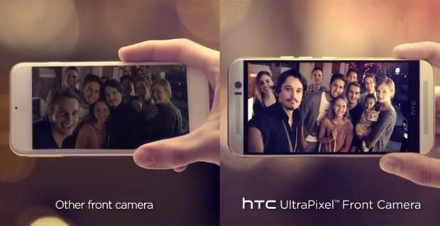 HTC slams Apple in a HTC One M9 vs iPhone 6 selfie comparison.