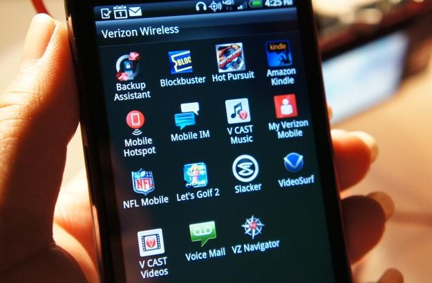 HTC Rezound Pre-loaded apps from Verizon Wireless