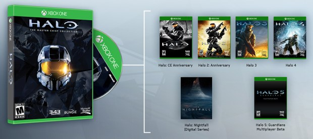 You get four Halo games and access to the Halo 5 beta.