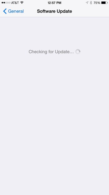 Check for the iOS 8.1.3 update in Settings.