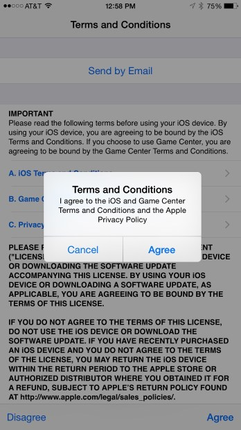 Agree to the terms and conditions twice.