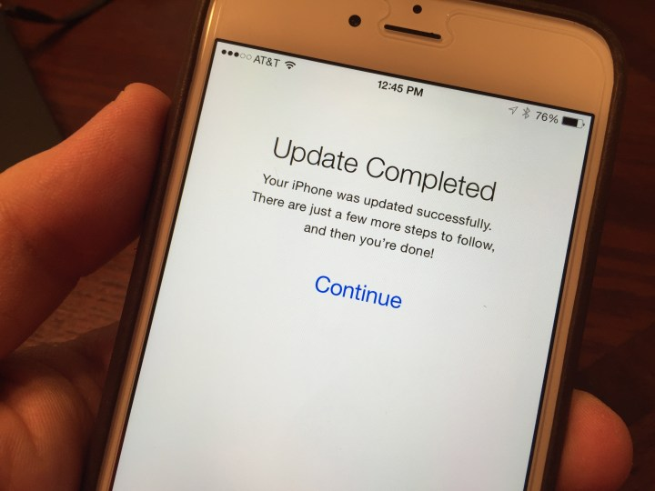 After this screen you can use the iPhone, but you will need to wait for apps to restore.