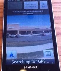 Samsung Infuse 4G Nav App