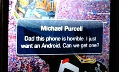An iPhone Text notification