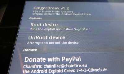 Rooting Acer Iconia Tab A500 as simple as Tapping Root Device