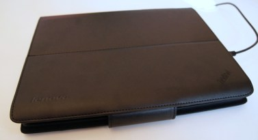 Closed, leather exterior - ThinkPad Tablet Keyboard Folio Case
