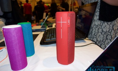 The Logitech UE MEGABOOM is waterproof with 20 hours of battery life.