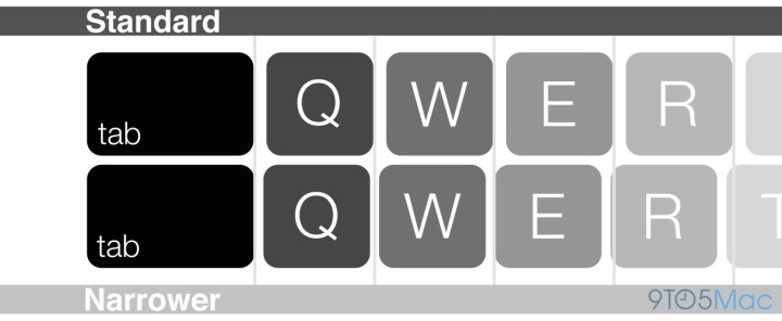 Count on new keyboard spacing on the 2015 MacBook Air Retina.