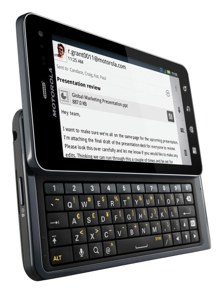 Motorola Droid 3 Keyboard Angle