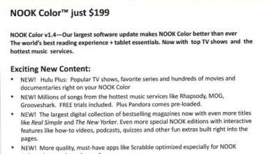 Nook Color gets Hulu