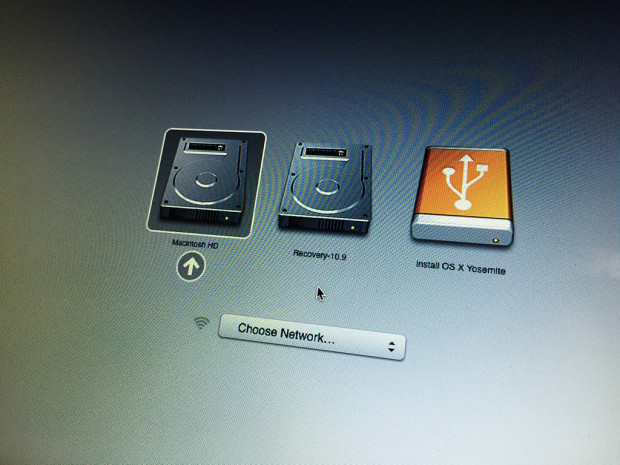 This will complete an OS X Yosemite downgrade to OS X Mavericks.