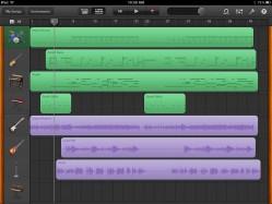 GarageBand iPad app Tracks