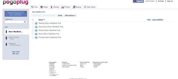 My Pogoplug Web Page