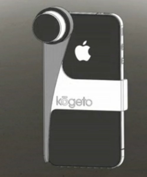 Dot Clasps to back of iPhone 4