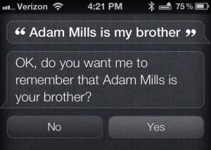 Siri Relationships