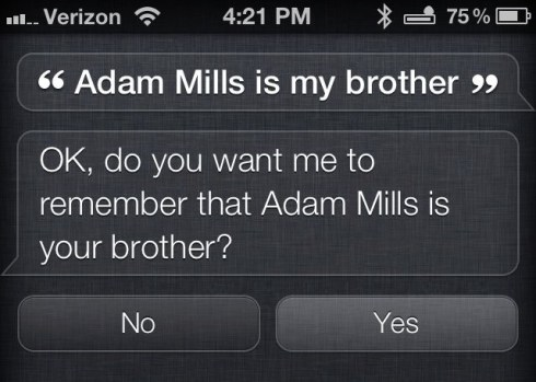 Teach Siri Who You Are Related to