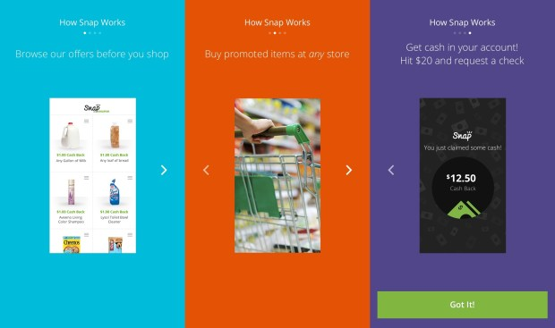 Download the Snap Groupon app to earn money while you buy groceries.