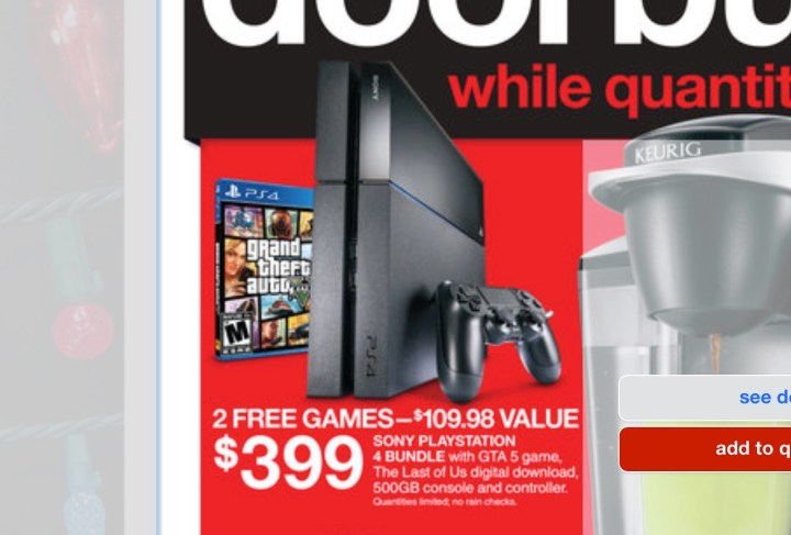 PS4 Black Friday 2014 Deal