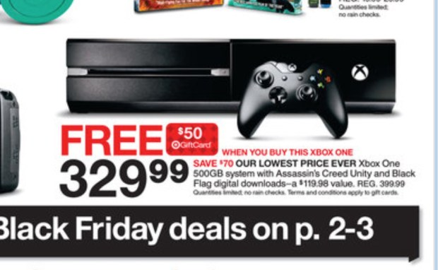 Target Black Friday 2014 ad - Xbox One Deal