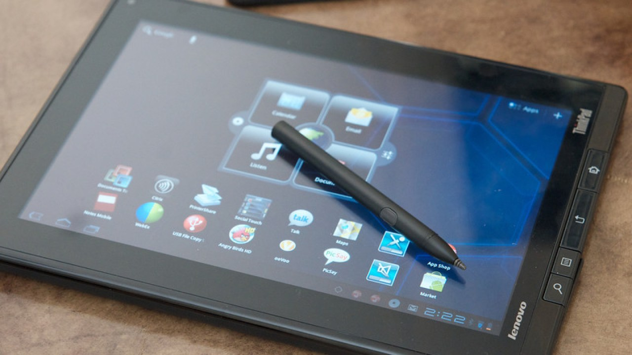 ThinkPad Tablet Hands On Video: Android, Handwriting