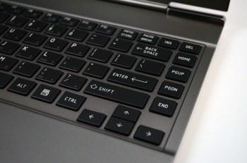 Toshiba Portege z830 Ultrabook keyboard closeup