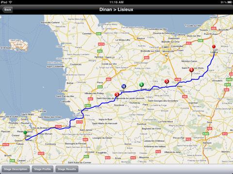 Tour de France iPad app - Tour 2011
