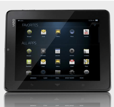 Vizio Android Tablet Front