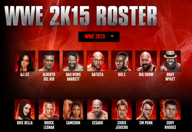 All versions of WWE 2K15 share the same roster.