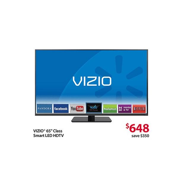 65-inch Vizio HDTV Black Friday Deal at Walmart