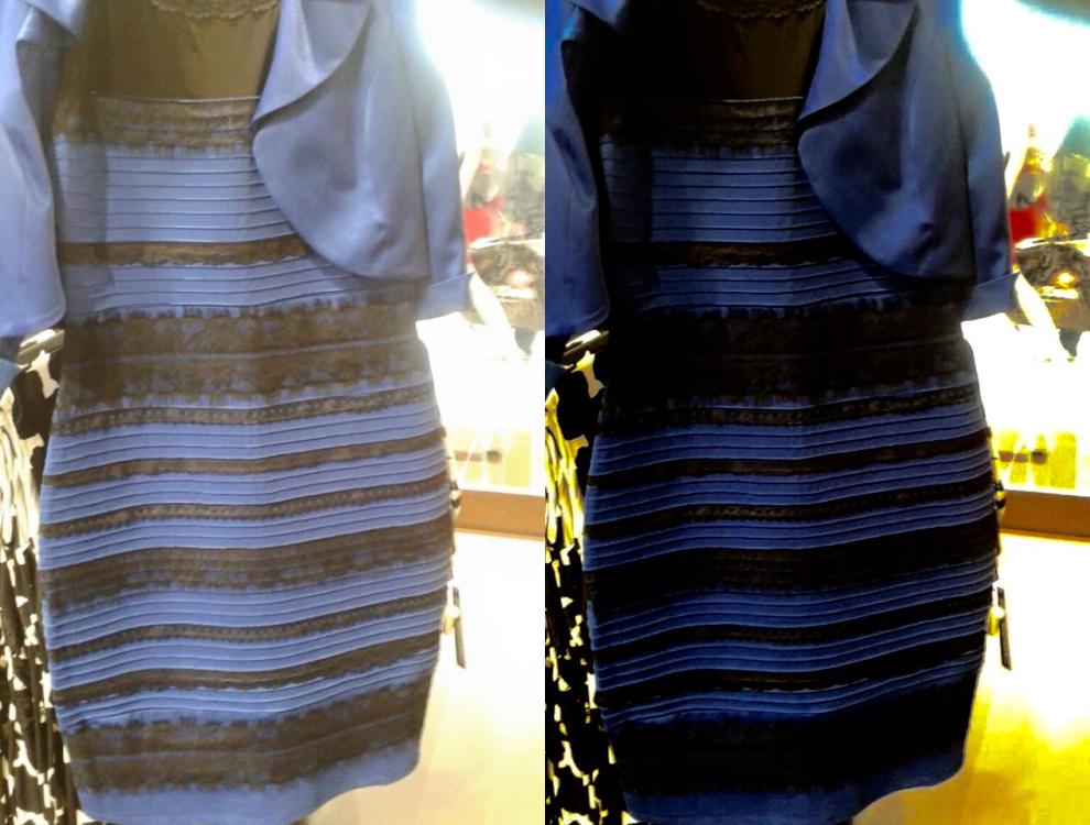 Yellow gold blue black dress