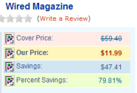 Wired Magazine Subscription Price June 5th