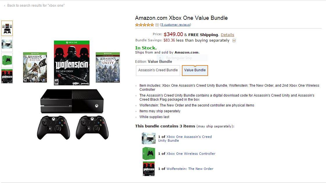 Amazon Delivers Stunning Xbox One Savings