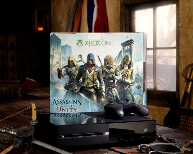 You can get a free copy of Assassin's Creed Unity when you buy this Xbox One bundle.