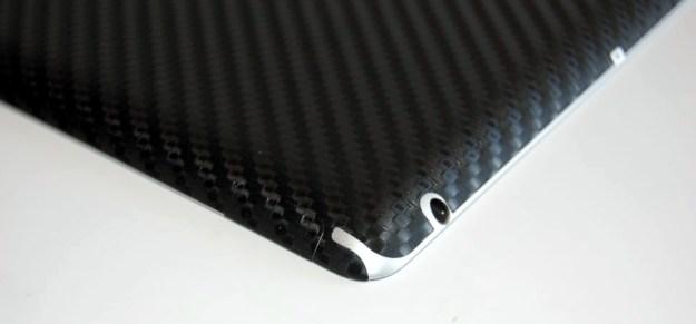 bodyguardz armor carbon fiber ipad skin cutout