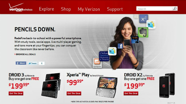 Droid Deal on Verizon