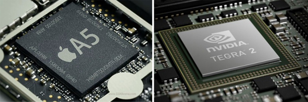 Apple A5 and Nvidia Tegra 2 Chips