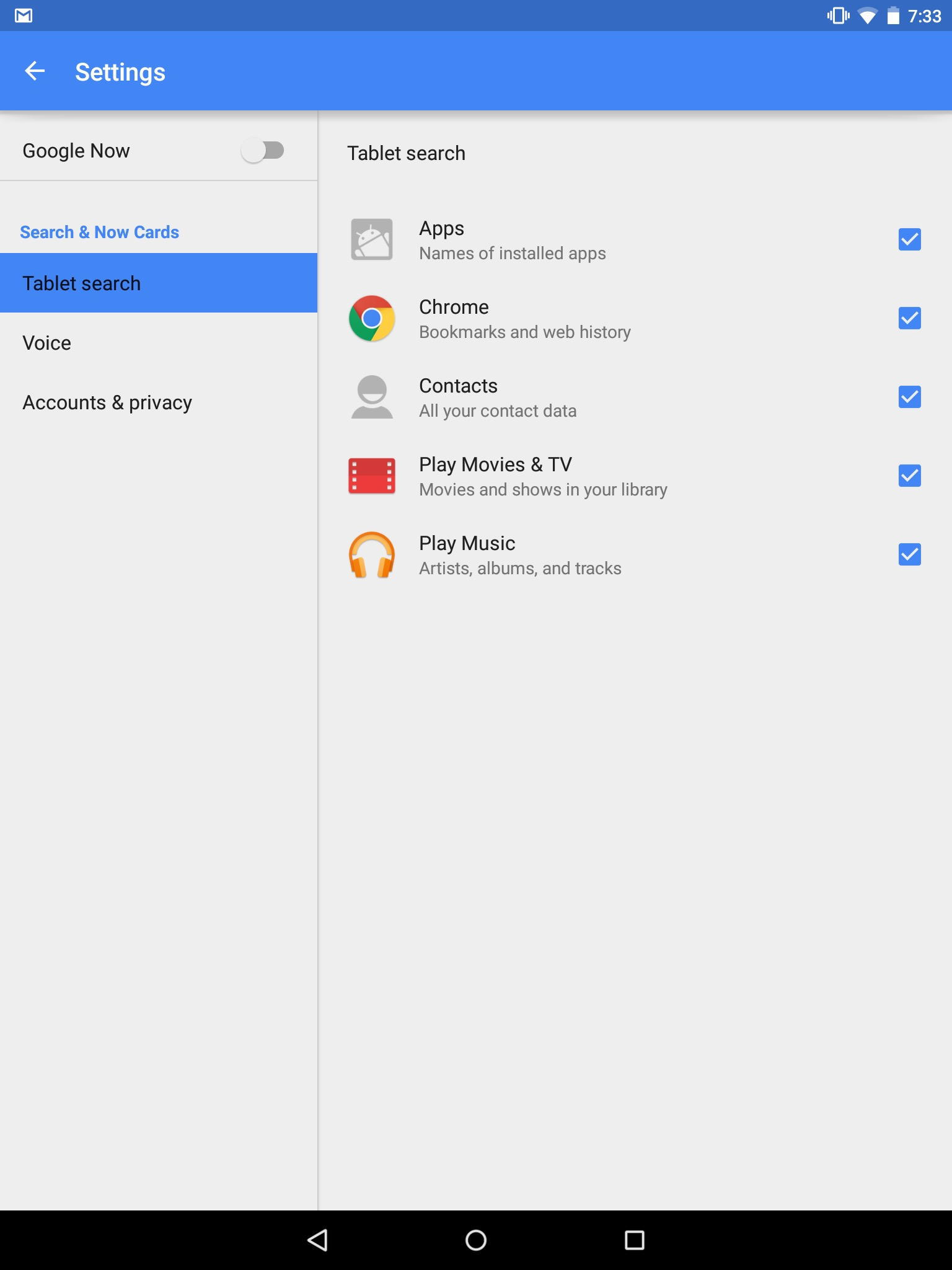 how to change google now settings