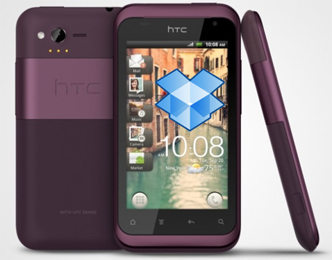 HTC Rhyme with Dropbox