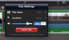 iMovie Clip Options iPad 2 Review