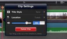 iMovie Clip Options iPad 2 Review